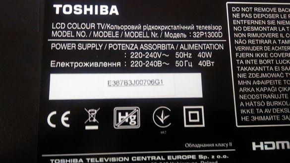 LED телевизор  Toshiba P32 1300D за части