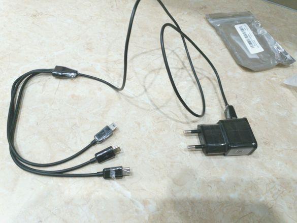 Зарядно с троен кабел за Деус XP Deus захранване зареждане mini USB