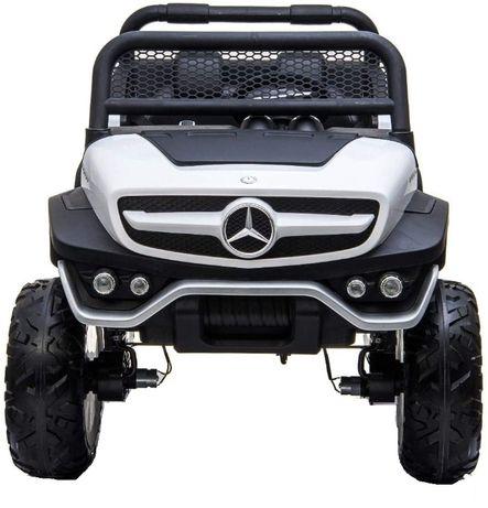 Masinuta electrica Kinderauto Mercedes UNIMOG 4x4 PREMIUM #Alb