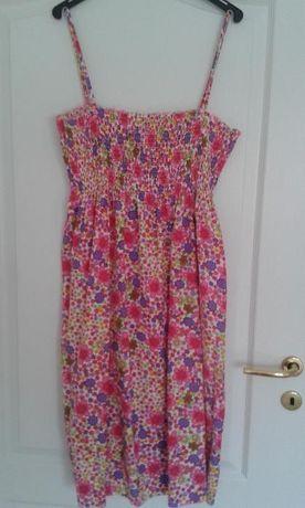Rochie cu floricele colorate cu bretele