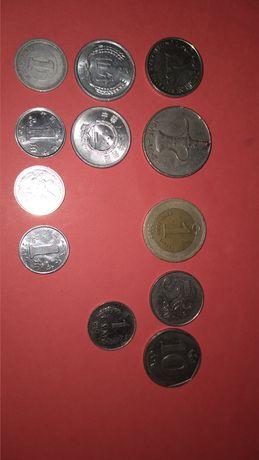 Продам монеты 1, 2 евро, 2 евроцента, 25 центов США и др.