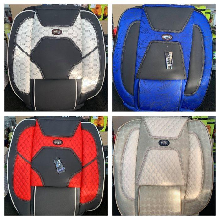 Huse scaune auto stofa imitatie de piele negru gri rosu albastru crem Bucuresti - imagine 1
