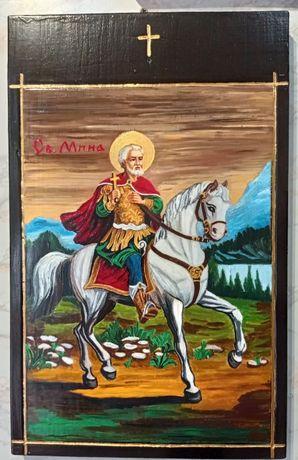 Икона на Св. Мина - рисувана