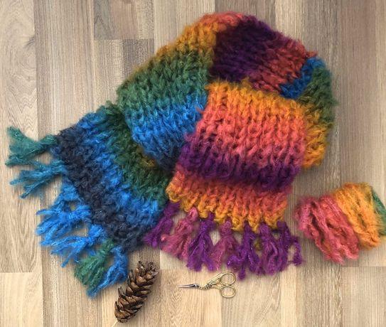 Ръчно плетен шал