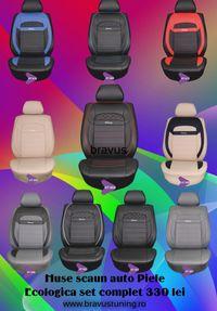 Huse scaun auto Piele Ecologica SPORT set complet diverse culori