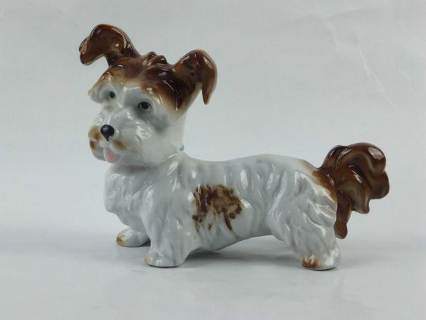 Caine Skye Terrier bibelou de portelan