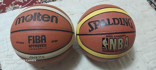 Баскетбольный мяч Molten и Spalding