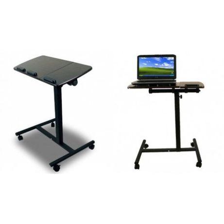 Мобилна маса на колела за лаптоп, подвижна маса за лаптоп
