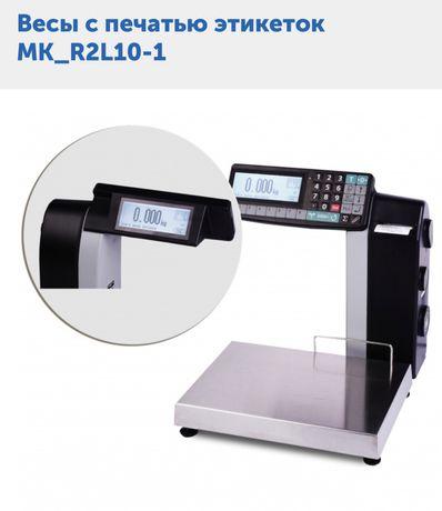 Весы с печатью этикеток MK_R2L10-1+ сканер