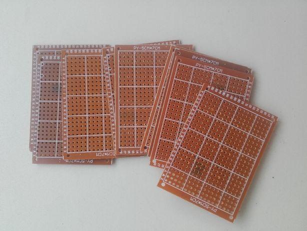 Circuite electronice perforate simplu placat pt teste rapide