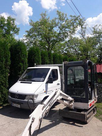 Miniexcavator , bascula 3,5 t