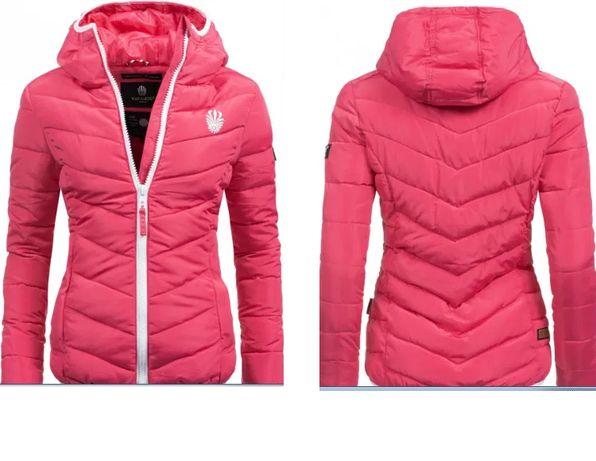 American culture Бренд Navahoo розовая стеганая зимняя куртка ватни