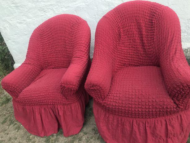 Отдам 2 кресла и диван большой