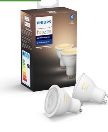 2 Becuri LED Smart Philips Hue White ambiance GU10, Nou, sigilat
