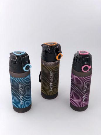 Спортивная бутылка для воды (бутылочка, шейкер)