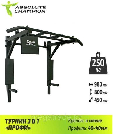 Турник 3в1 Профи ABSOLUTE CHAMPION (6 расцветок)