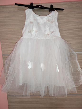 Официална рокля за момиче, размер 5 г. , Подходяща за кръщене