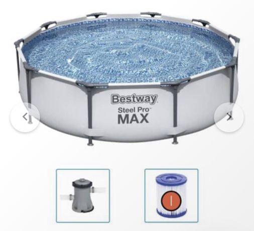Piscina Bestway Steel Pro Max NOUA 366 cm cu pompa filtrare si filtru