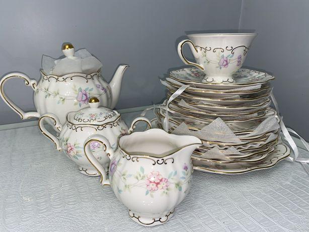 Чайный сервиз на 6 персон ELAMINA (новый)