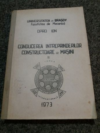 Conducerea întreprinderilor constructoare de masini 1973