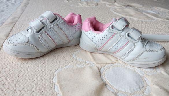 Детски маратонки - бели с розово №25 стелка 15см