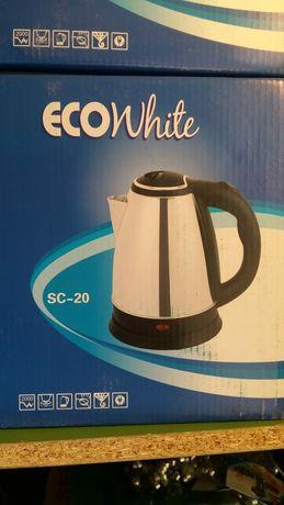 Чайник электрические ECOwhjte 2,2литра новые в упаковке