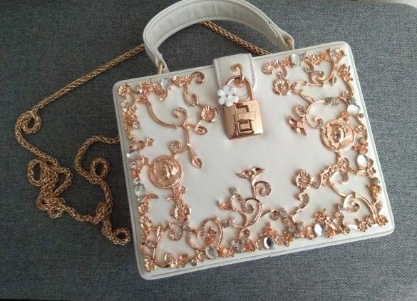 Елегнатна дамска чанта, подарък за жена, чанта за бал или сватба