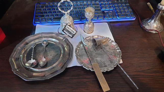 Lot de 9 obiecte argintate