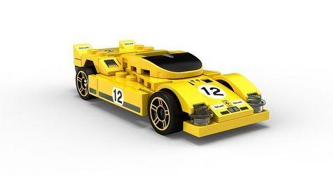 Lego 40193: жълто Ferrari 512S, 6+