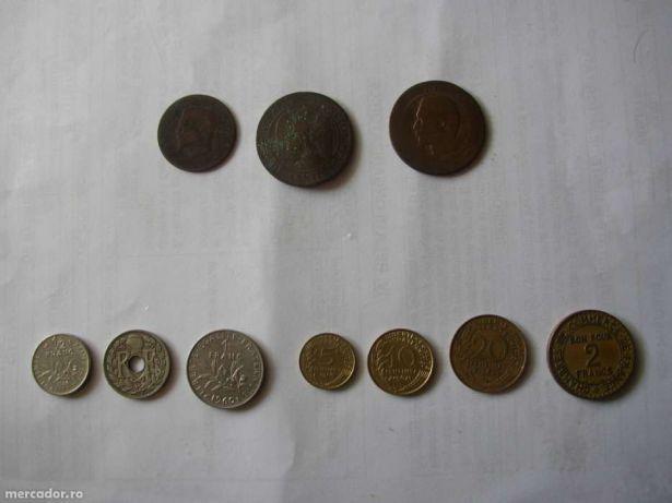 Vand schimb MONEDE vechi frantuzesti, franci / Old coins for sale