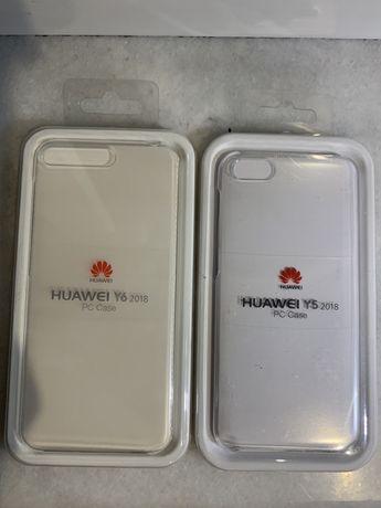 Husa ultra slim originala Huawei Y6 sau Y5 2018 PC Case transparenta