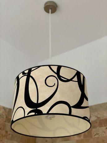 Lustra Mobexpert tip pendul cu abajur textil lavabil