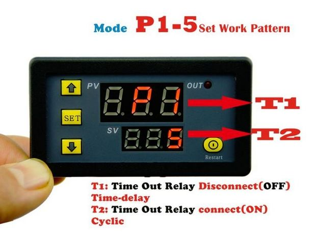 Releu de timp timer temporizator regabil ciclic centrala peleti