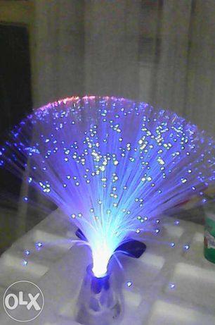 Lampa, veioza, superba, fibre sticla culori schimbatoare, noua, cadou
