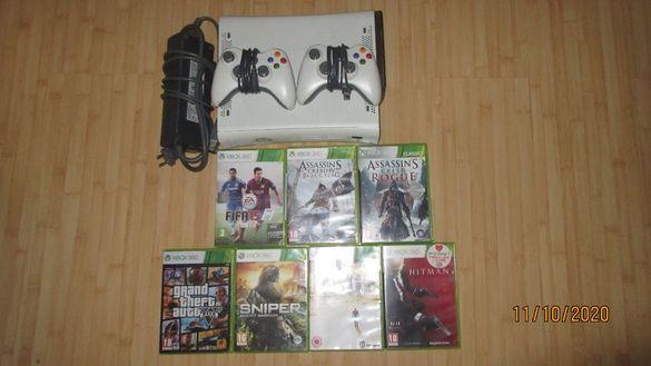 Xbox 360 с подарък 7 игри