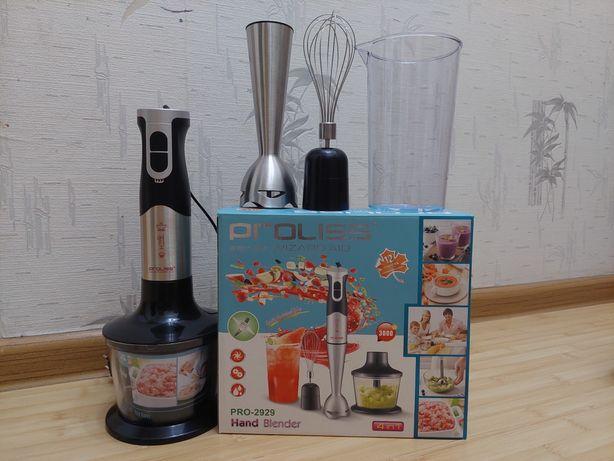 Блендер PROLISS PRO-2929с чашей измельчения, венчиком и стаканом