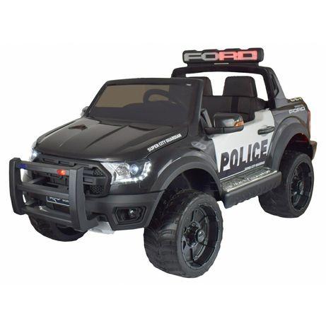 Masinuta electrica de politie Ford Raptor, 12V, roti cauciuc EVA