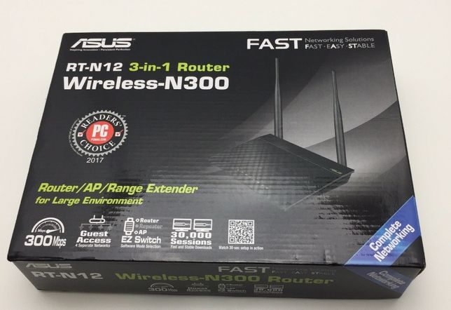 Router wireless ASUS RT N 12 +