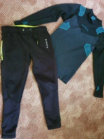 Детски спортен комплект дълъг ръкав и клин + къси панталонки Kipsta.