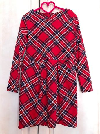 Лот рокля HM + филцова шапка Zara за 8 - 10години / 2 броя
