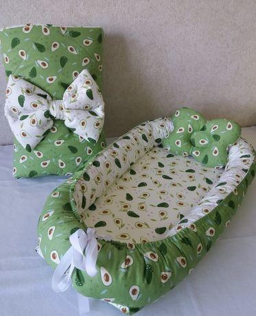 Одеяло на выписку, кокон-гнёздышко