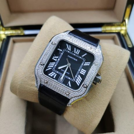 Cartier Santos 100 Full Diamond Black