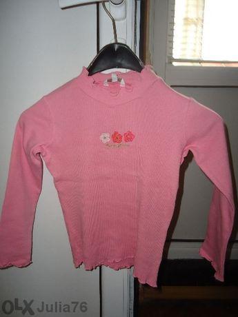 Розово полуполо за момиченце
