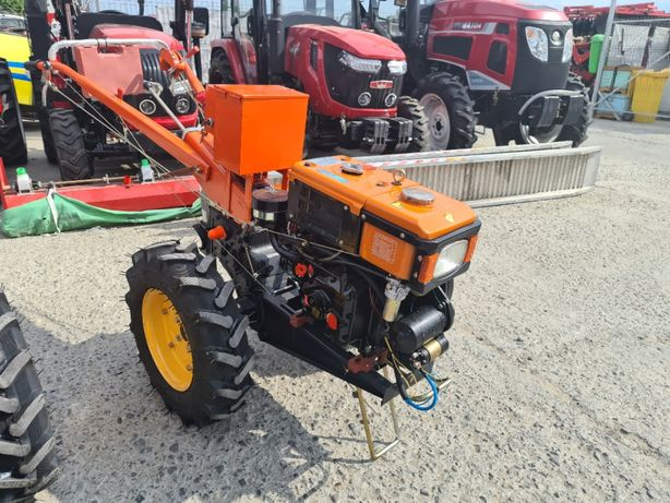 Motocultor Baisan 8 CP diesel cu pornire electrica, freză și plug 95YT