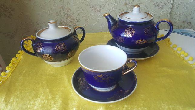 Чайный сервиз кобольтовый