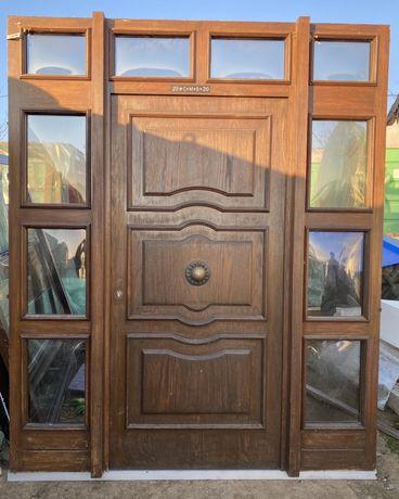 Usa casa vila firma lemn cu geam termopan H 239 x L 198 Germania