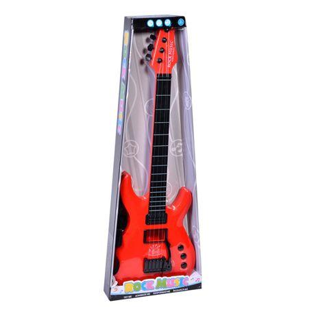 Chitara electrica din plastic Rock Music, 63 cm