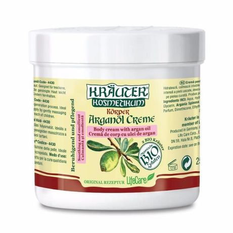 Crema de argan 250 ml pt antirid si pielea uscata