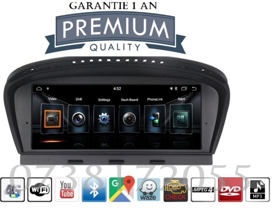 Navigatie GPS android BMW Seria 5 E60 E61 E63 E64 MP3 Wi Fi Waze Bucuresti - imagine 1