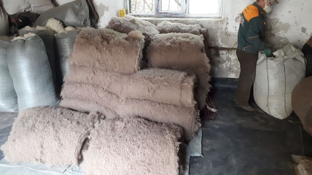 Верблюжье. Мериноса. Расчёсанная шерсть мытая. Для одеяла и подушки
